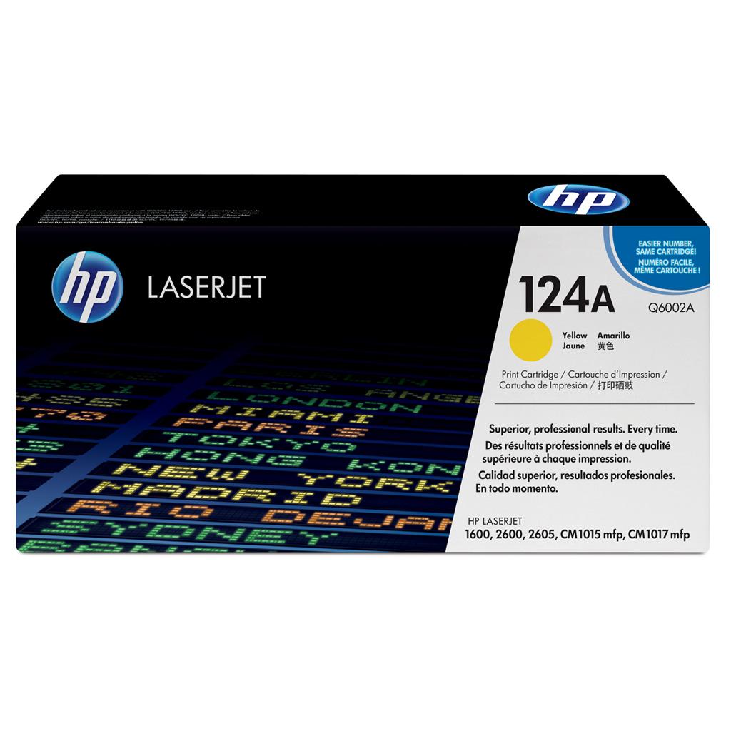 Принт-картридж HP 124A (Q6002A) желтый