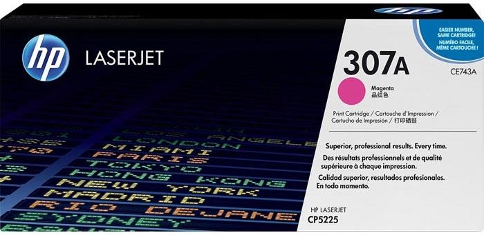 Тонер-картридж HP 307A (CE743A) пурпурный