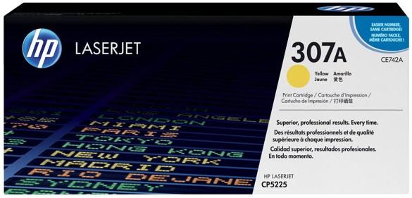 Тонер-картридж HP 307A (CE742A) желтый
