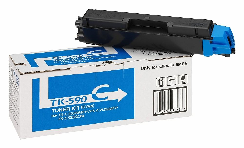 Тонер-картридж Kyocera TK-590C голубой
