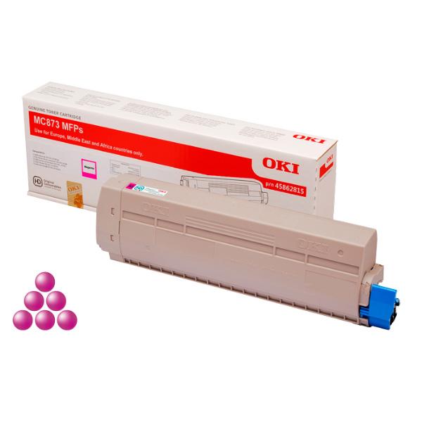 Тонер-картридж для OKI MC873 пурпурный (10,000 стр.) (45862846)