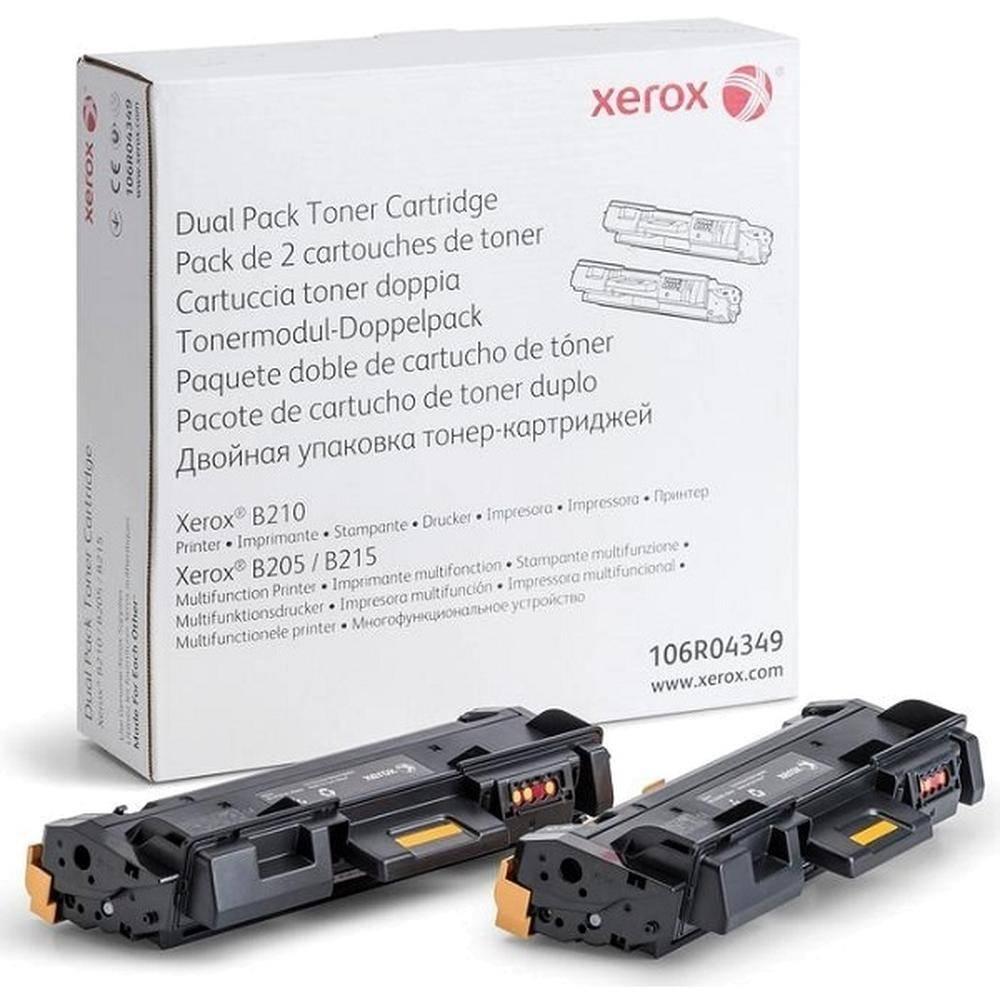 Тонер-картридж Xerox 106R04349 для B205/210/215 (3,000 *2стр.)