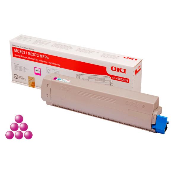 Тонер-картридж для OKI MC853, MC873 пурпурный (7,300 стр.) (45862850)