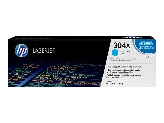 Принт-картридж HP 304A (CC531A) голубой