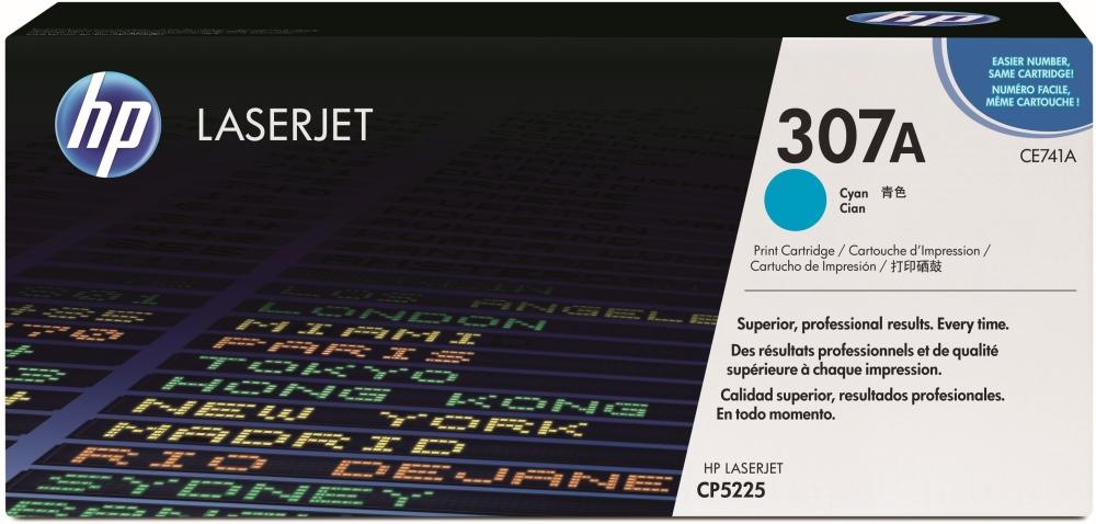 Тонер-картридж HP 307A (CE741A) голубой