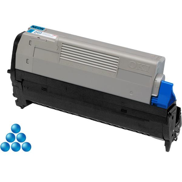 Печатный картридж для OKI Pro6410 неоново-голубой (6,000 стр.)