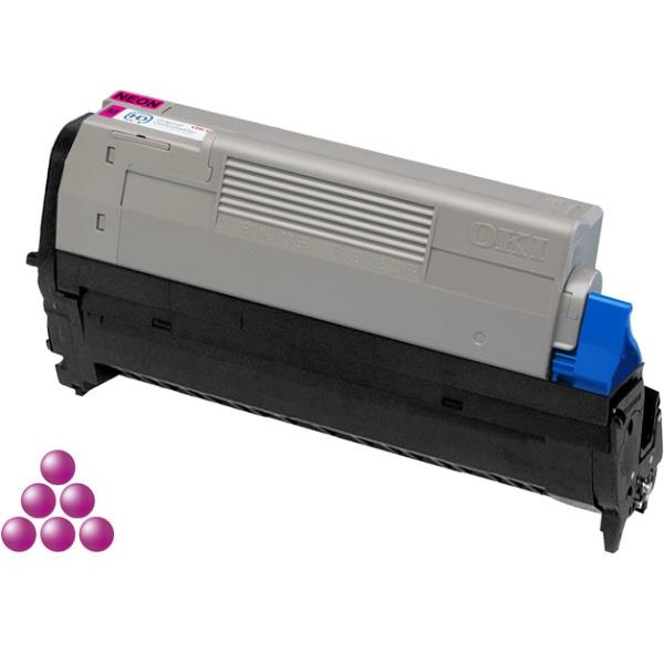 Печатный картридж для OKI Pro6410 неоново-пурпурный (6,000 стр.)