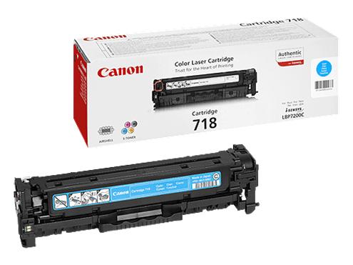 Принт-картридж Canon 718 голубой (2661B002)