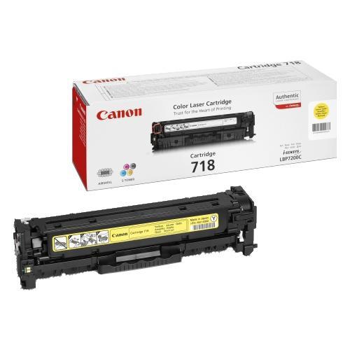 Принт-картридж Canon 718 желтый (2659B002)