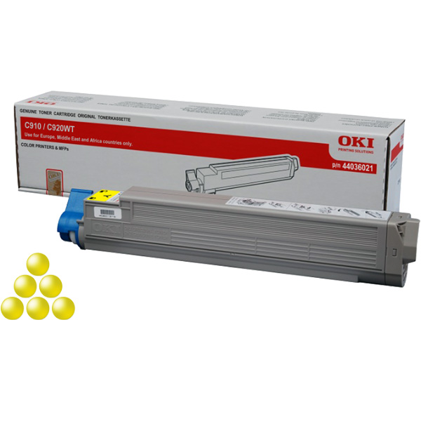Тонер-картридж OKI 44036021 для C910, C920WT желтый (15,000 стр.)