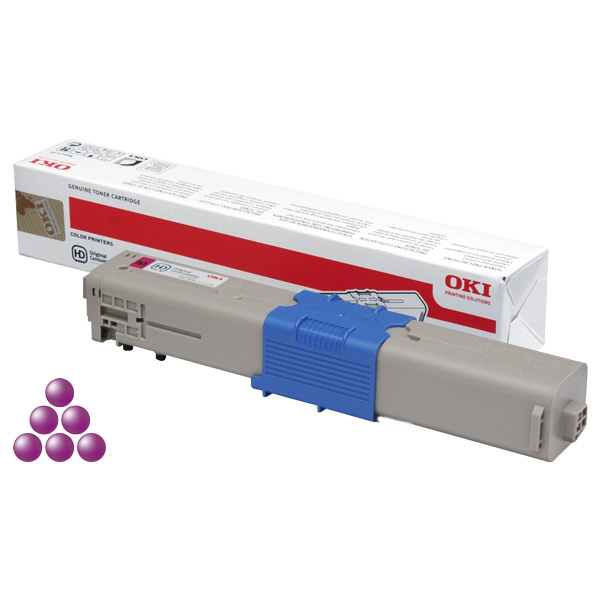 Тонер-картридж для OKI C310, C331, MC362 пурпурный (2,000 стр.)