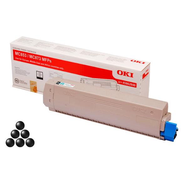 Тонер-картридж для OKI MC853, MC873 черный (7,000 стр.)