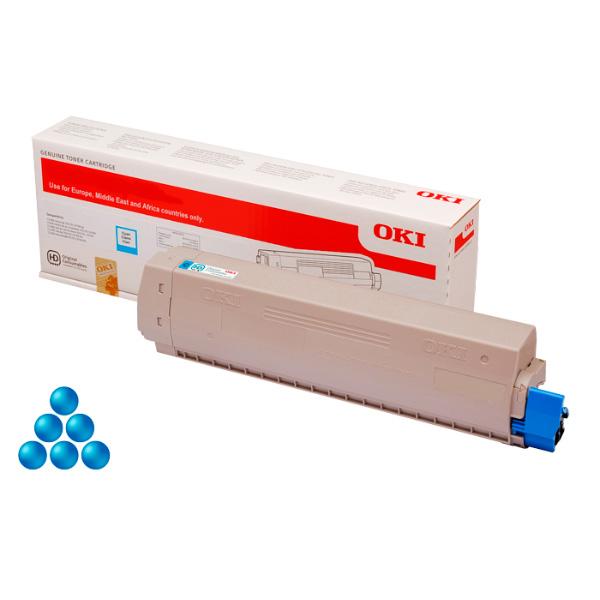 Тонер-картридж OKI 46471107 для C823 голубой (7,000 стр.)