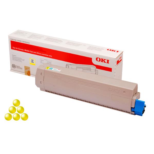 Тонер-картридж для OKI C833, C843 желтый (10,000 стр.)