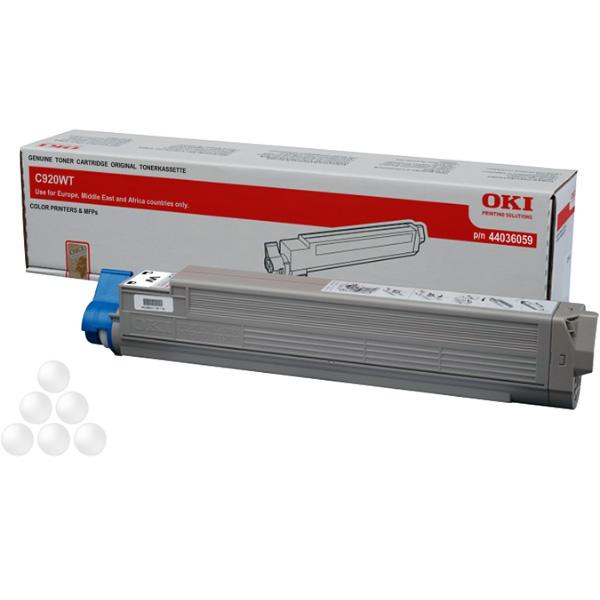 Тонер-картридж OKI 44036059 для C920WT белый (8,000 стр.)
