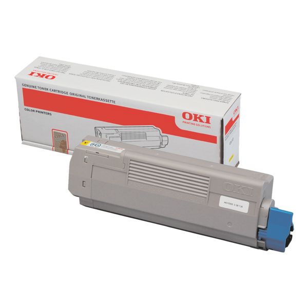 Тонер-картридж OKI 46490405 для C532, C542, MC563, MC573 желтый (1,500 стр.)
