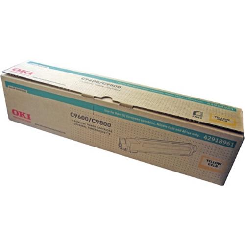 Тонер-картридж OKI 42918961 для C9600, C9650, C9800 желтый (15,000 стр.)