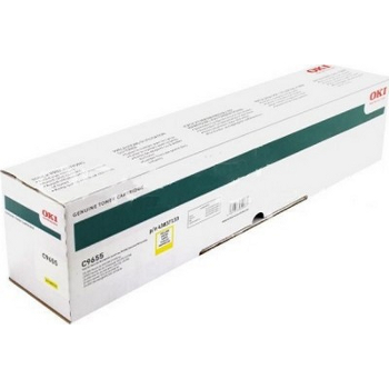 Тонер-картридж OKI 43837133 для C9655 желтый (22,000 стр.)