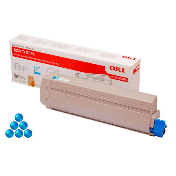 Тонер-картридж OKI 45862847 для MC873, MC883 голубой (10,000 стр.)