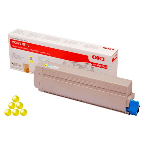 Тонер-картридж OKI 45862845 для MC873, MC883 желтый (10,000 стр.)