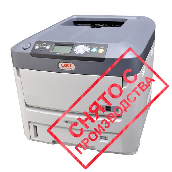 Принтер OKI C711WT с белым тонером (01329701)